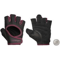 Harbinger Women's Power Stretchback Fitness Handschoenen - Zwart/Rood - M