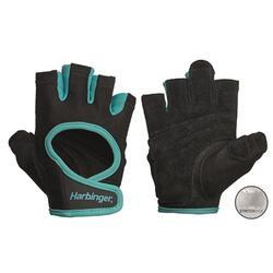 Harbinger Women's Power Stretchback Fitness Handschoenen - Zwart/Blauw - L
