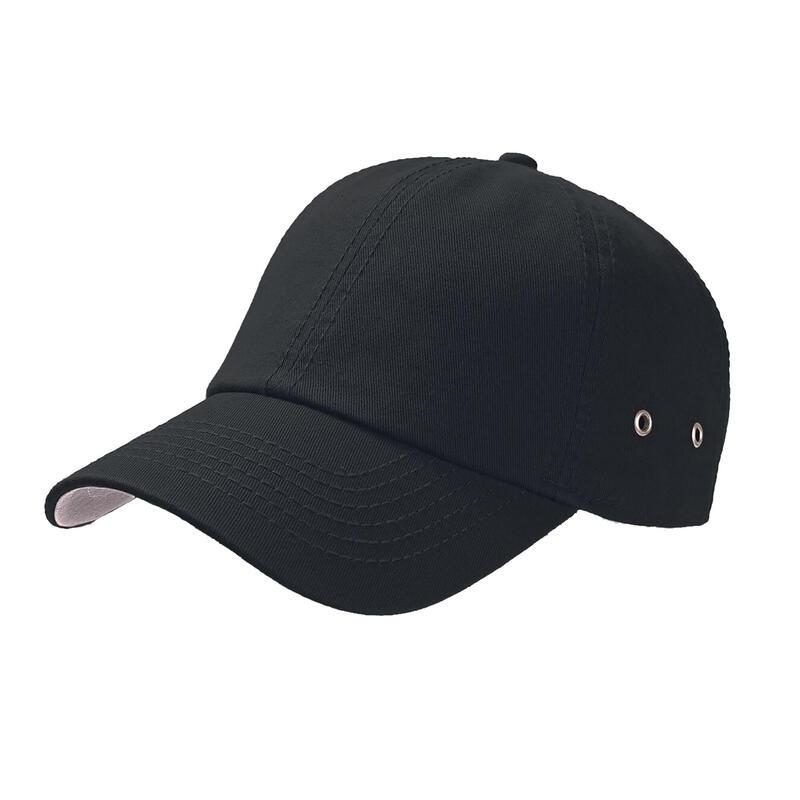 Action 6 Panel Chino Baseball Cap (Pack of 2) (Black)
