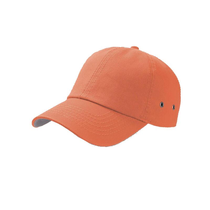 Action 6 Panel Chino Baseball Cap (Orange)