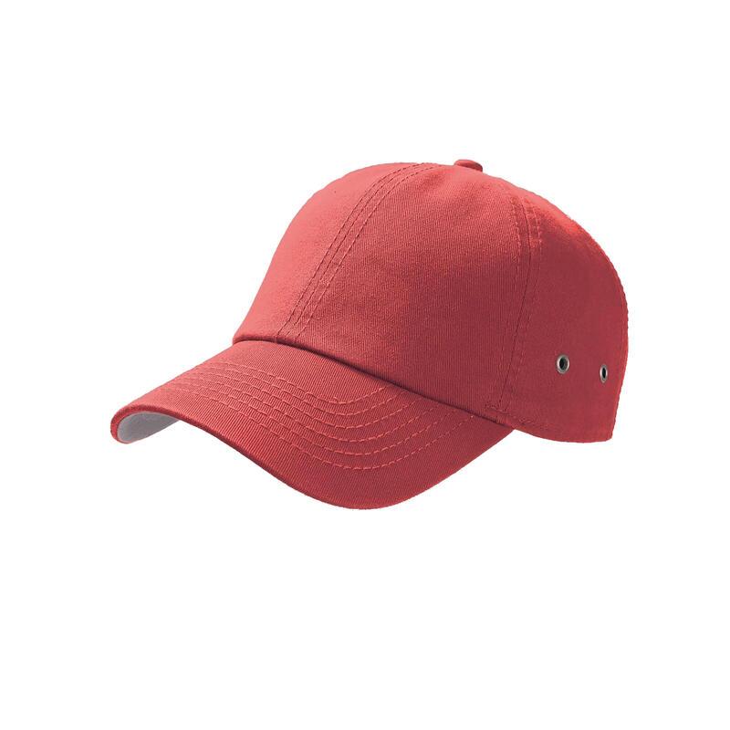 Action 6 Panel Chino Baseball Cap (Red)
