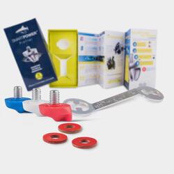 Kit de 12 crampons plastiques PROFILER 8 mm avec la clée