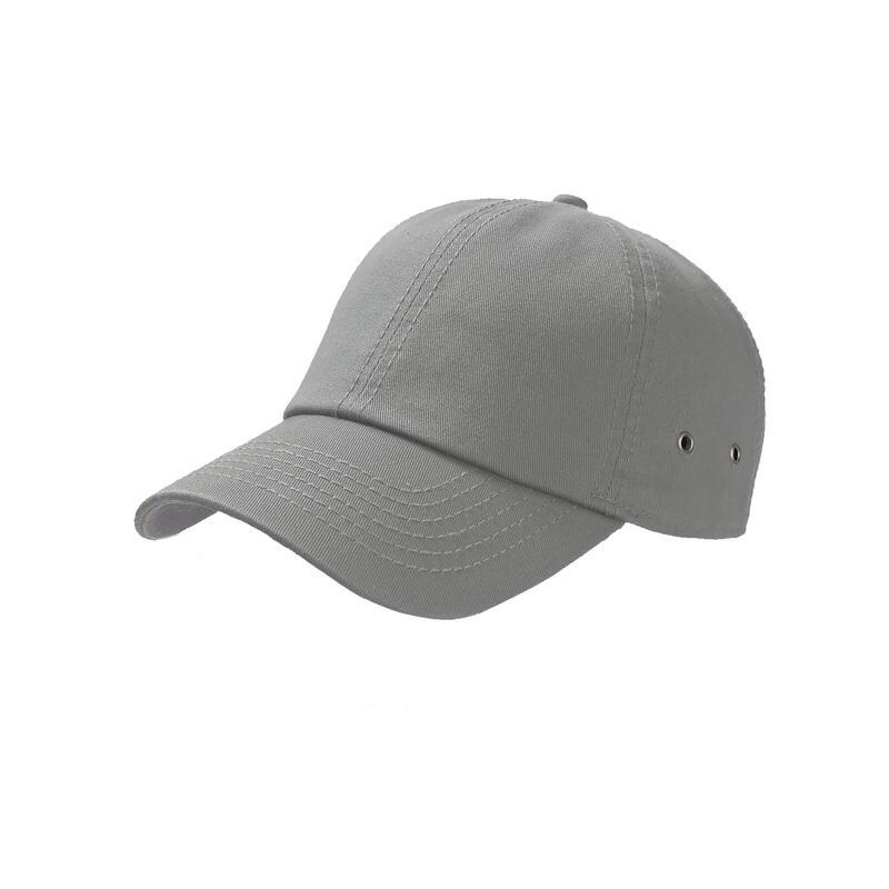 Action 6 Panel Chino Baseball Cap (Grey)
