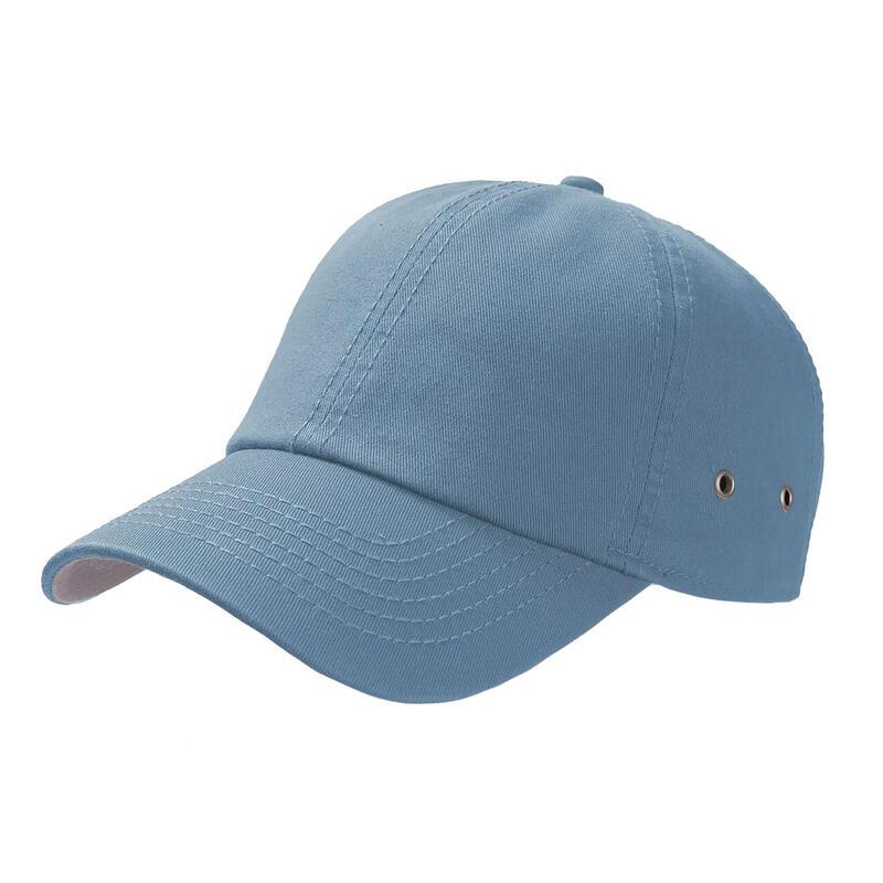 Action 6 Panel Chino Baseball Cap (Pack of 2) (Light Blue)