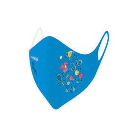 Wasbare barrièremaskers covid-19 voor kinderen sport blauw