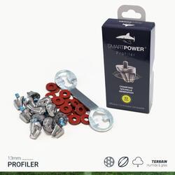 Kit de 12 crampons aluminium PROFILER 13 mm avec la clée