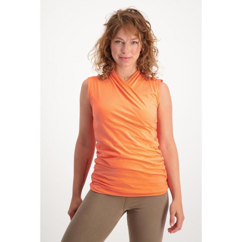 Top de yoga Good Karma - Haut de yoga élégant et bien ajusté - Coral Kisses