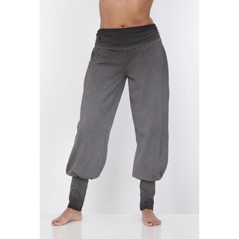 Dakini - Pantalon Aladdin ample confortable  - Off Black - gris
