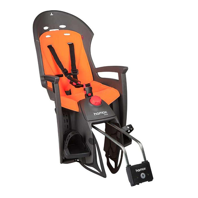 Siesta Child Bike Seat Grey/Orange