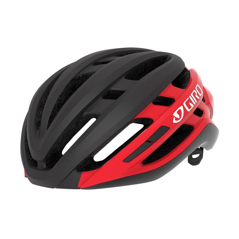 Agilis Road Helmet Mens|Womens Road Matte Black/Bright Red L 59-63cm