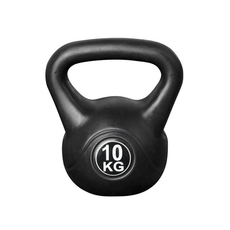 Kettlebell pour l'intérieur et l'extérieur - Plastique - Noir - 10 kg