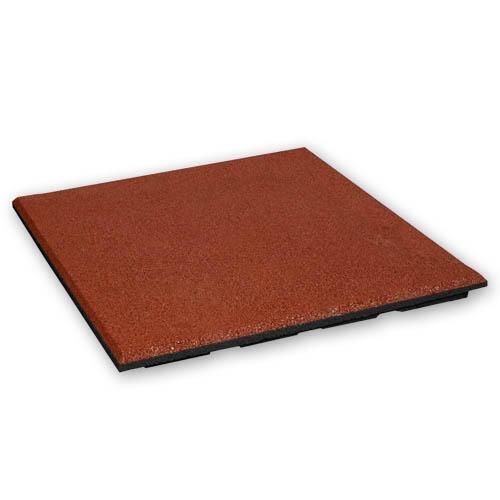 Baldosa de goma 30 mm - 50 x 50 cm - Rojo