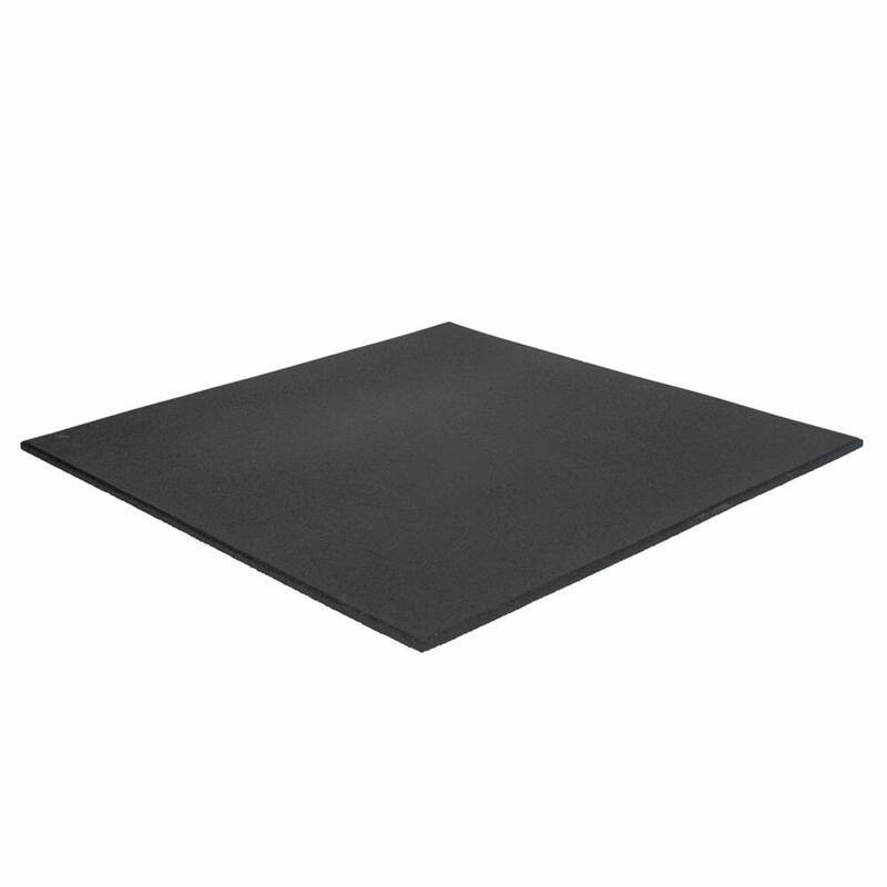 Dalle de sol sportif 100 x 100 cm - 11 mm - Grain fin - Noir