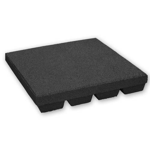 Baldosa de caucho 55 mm - 50 x 50 cm - Negro