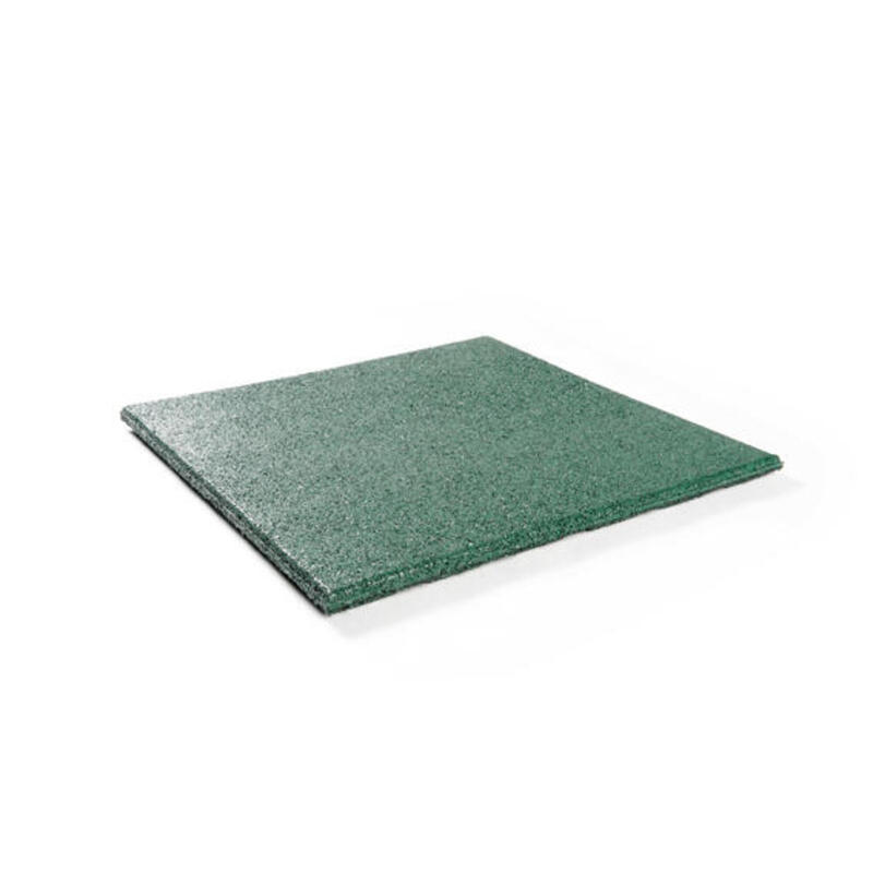 Baldosa de goma 25 mm - 50 x 50 cm - Verde