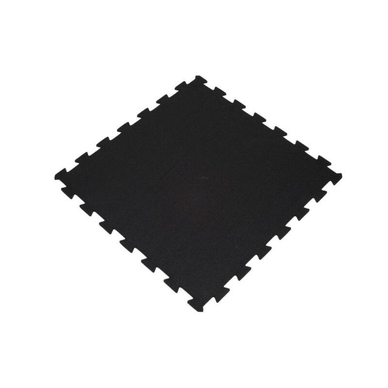 Suelo deportivo - Baldosa rompecabezas 60x60cm 6mm - Negro