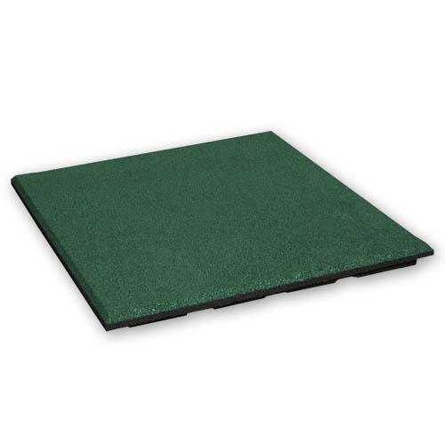 Baldosa de goma 30 mm - 50 x 50 cm - Verde