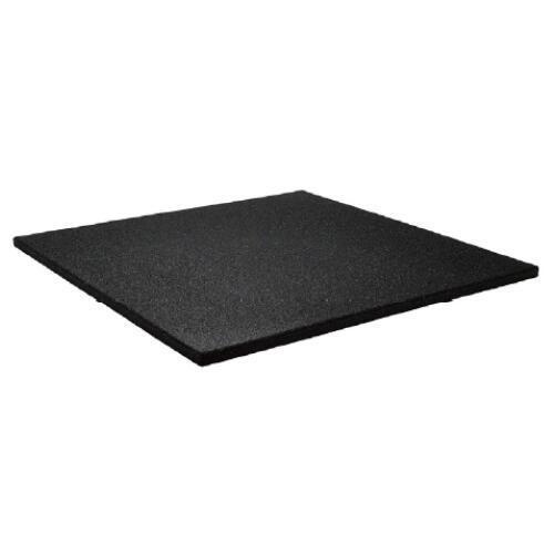 Sol pour salle de sport 100x100cm 15mm - grain extra fin - Noir