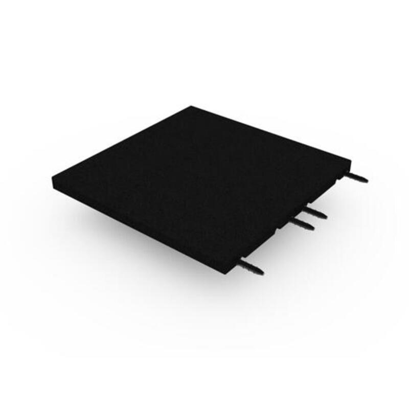 Dalle amortissante 35mm - 50x50cm - avec connecteurs - Noir