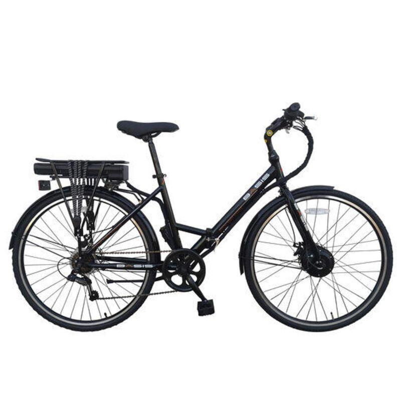 Hybrid Full Size Folding Electric Bike 700c Wheel Black/Red 9.6Ah
