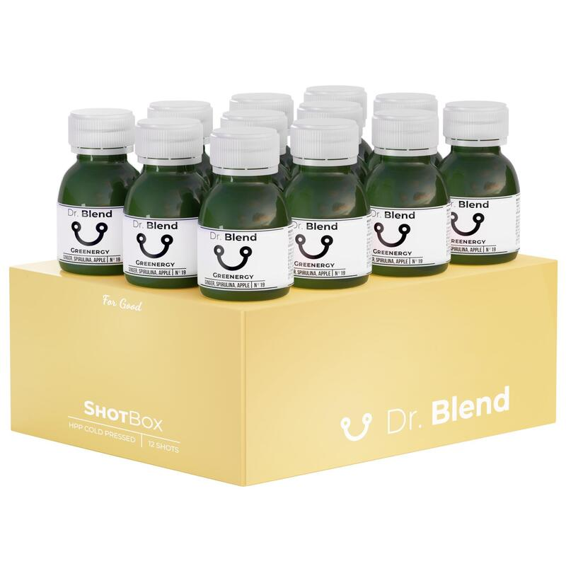 GREENERGY N°19 - SHOTBOX - POMME, GINGEMBRE, EPINARDS - PUR JUS - 12X60ML