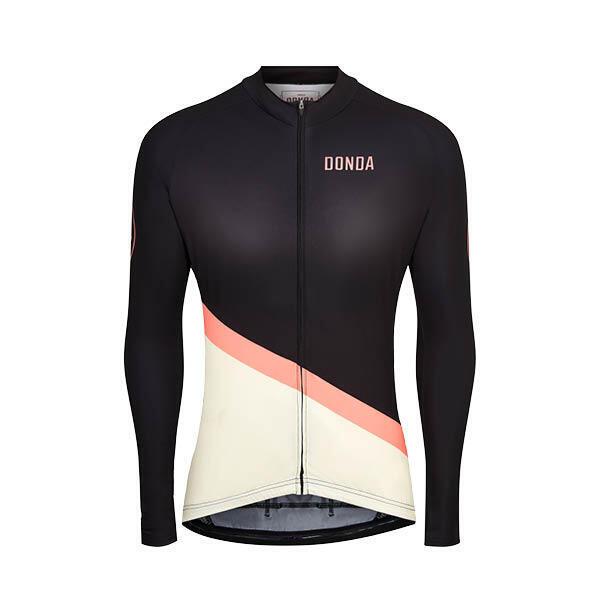 Jersey #9 - Long Sleeved Womens Cycling Jersey - Black/Cream