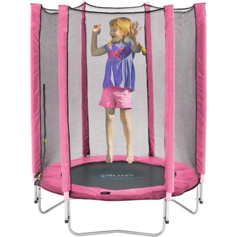 Plum trampoline Junior met veiligheidsnet roze 4,5ft