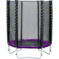 Plum trampoline Stardust avec filet de sécurité violet 4,5 ft