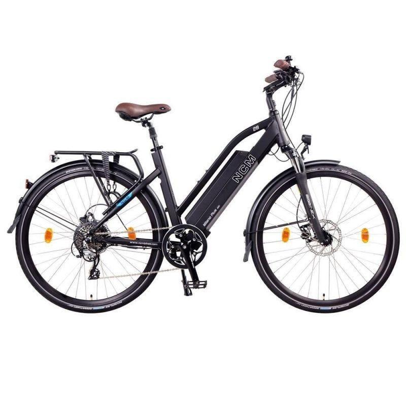 Vélo Electrique Trekking NCM Milano Plus Noir - 28'', 250W, Batterie 48V 16Ah