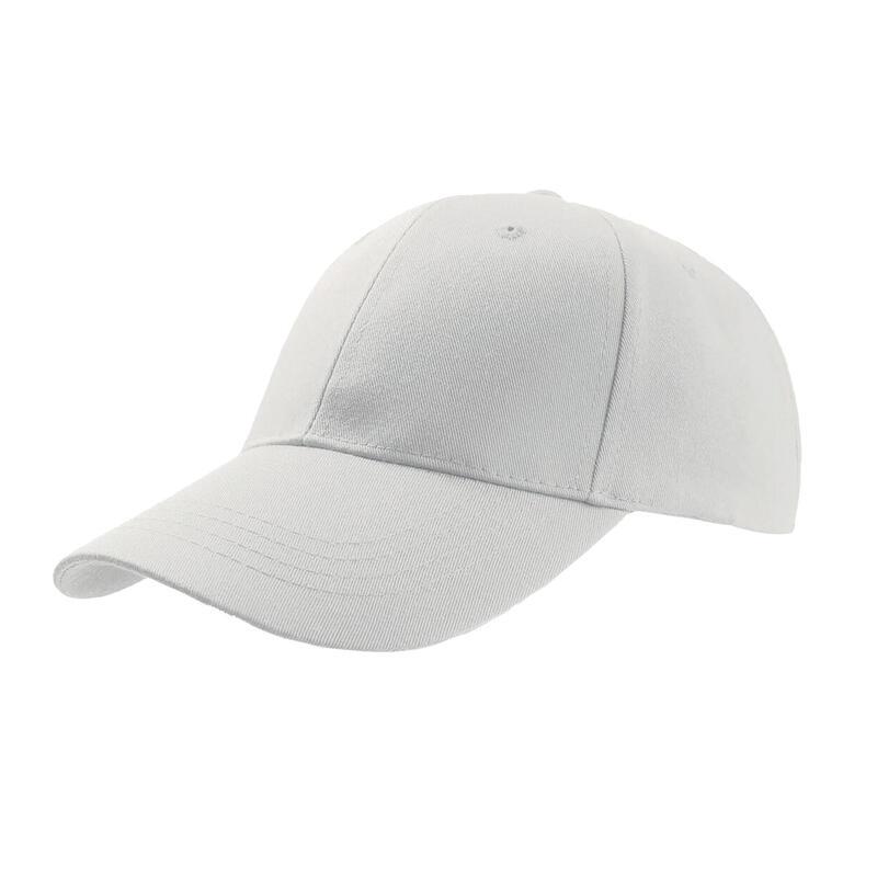 Zoom Sports 6 Panel Baseball Cap (Pack of 2) (White)