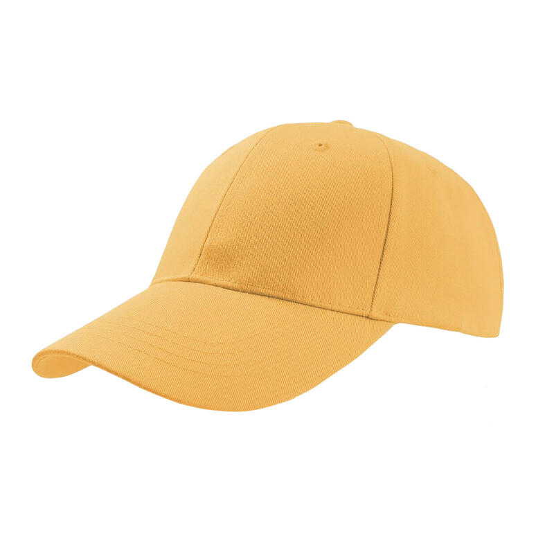 Zoom Sports 6 Panel Baseball Cap (Pack of 2) (Yellow)