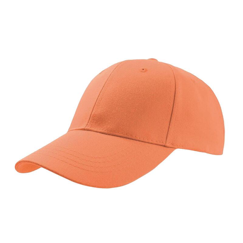 Zoom Sports 6 Panel Baseball Cap (Pack of 2) (Orange)