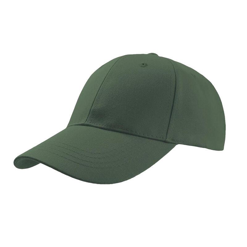Zoom Sports 6 Panel Baseball Cap (Pack of 2) (Green)