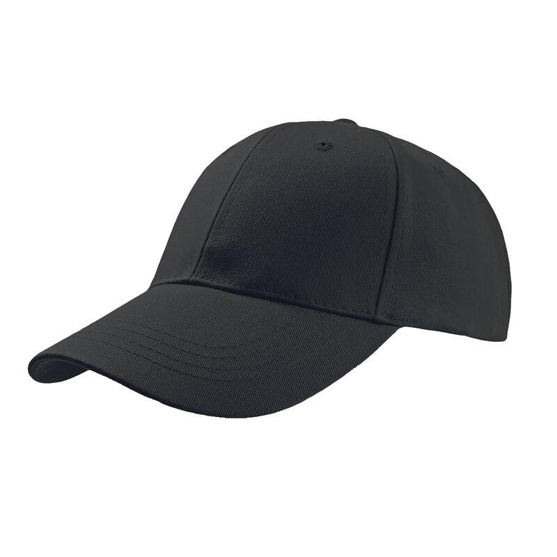 Zoom Sports 6 Panel Baseball Cap (Pack of 2) (Black)