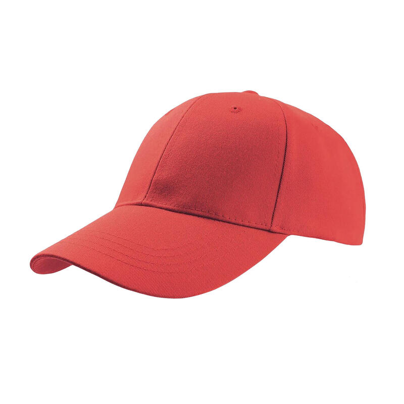 Zoom Sports 6 Panel Baseball Cap (Pack of 2) (Red)