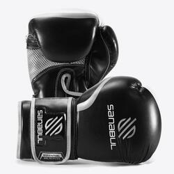 Gants de boxe en gel Sanabul Essential – Noir/Argenté - 14 oz