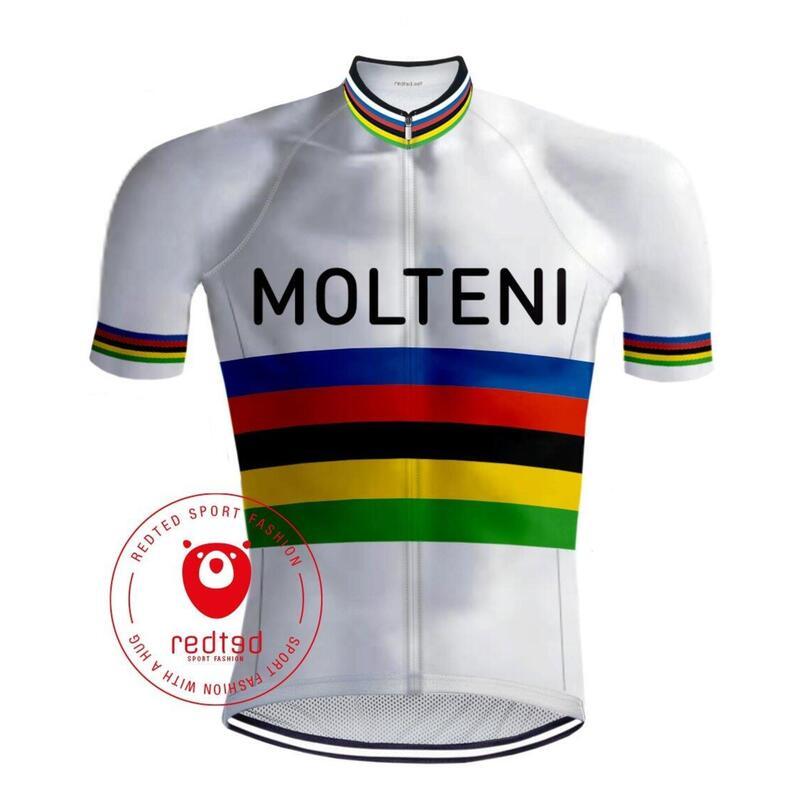 Maillot Cyclisme Vintage Molteni Arc en ciel - RedTed