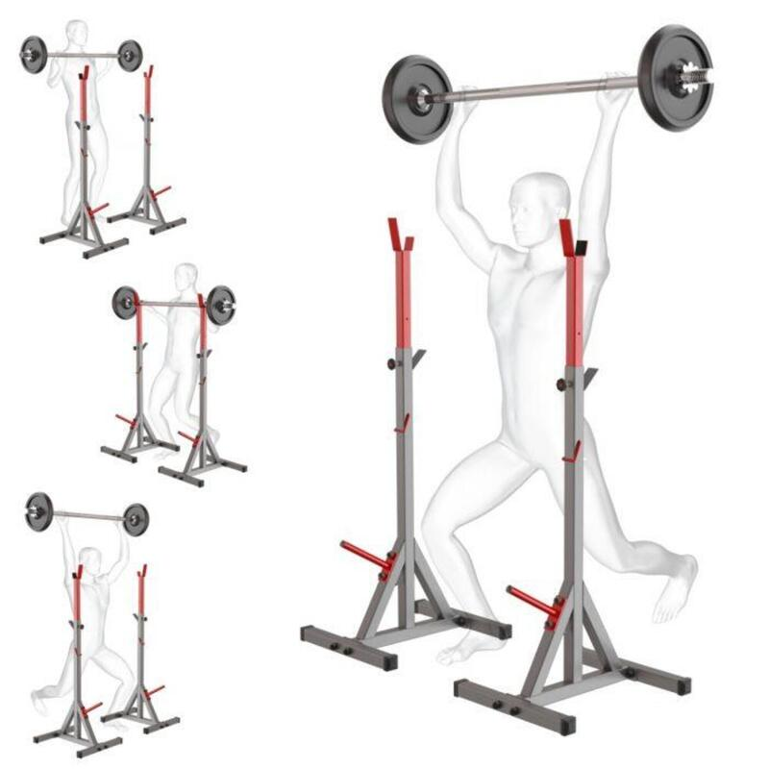 Soporte de flexión de rodilla reforzado con soporte de plato de pesas