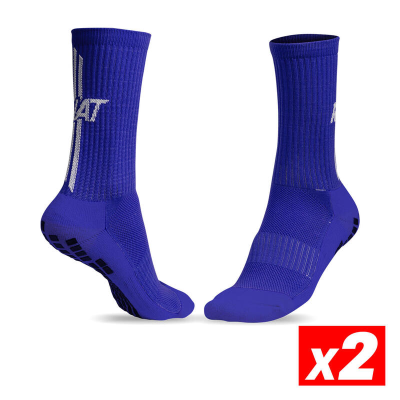 ANTI-SLIP SOCKS Calcetín antideslizante deportivo Adulto Azul Pack 2
