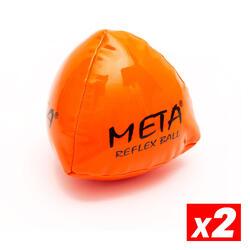 Ballon d'entraînement Reflex pour gardien but football Orange Pack 2