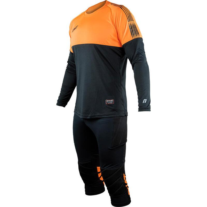KIT ENERGY Set d'entraînement de gardien de but protections enfants Orange Noir