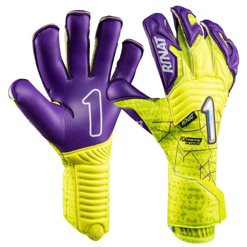 XTREME GUARD PRO Gant gardien but football adulte jaune fluo violet