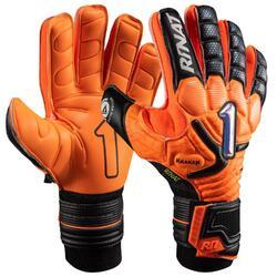 KRAKEN LETHAL SEMI voetbal keepershandschoen voor kinderen oranje zwart