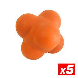 Reactiebal Voetbal Doelman Training Oranje Pack 5