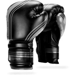 Gants de boxe en gel Sanabul Core Series – noir et métallisé - 16 oz