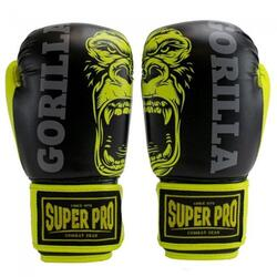 Super Pro Gorilla Kids Bokhandschoenen - Zwart/Geel - 10 oz