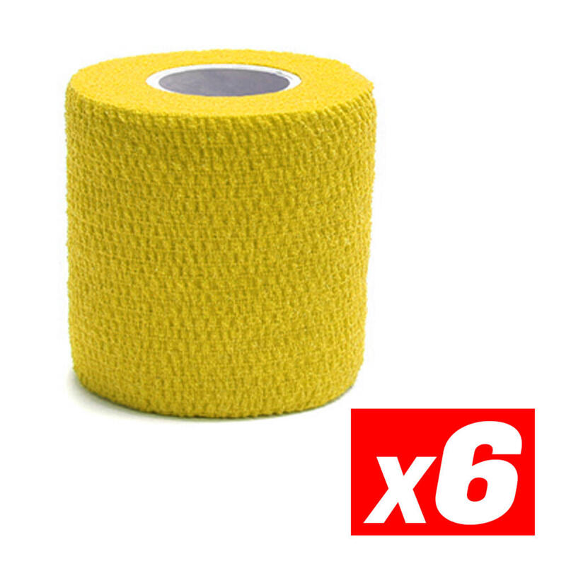 COHESIVE TAPE Compression Sports Cohesive Tape Jaune Pack 6