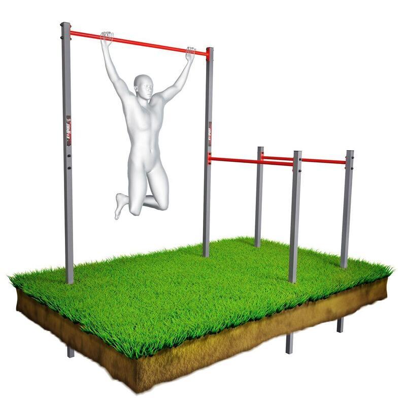 Barra de dominadas al aire libre/jardín + barras