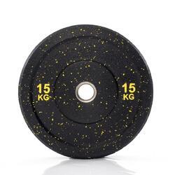 Muscle Power Hi-Temp Olympische Bumper Plate - Halterschijf - 50 mm - 15 kg