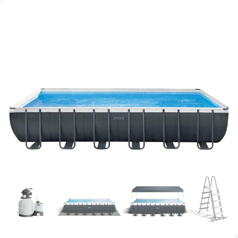 Piscina elevada rectangular INTEX Ultra XTR Frame 732x366x132 cm + depuradora